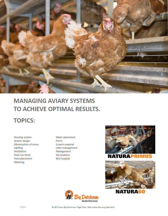 Cage-Free Aviary Systems
