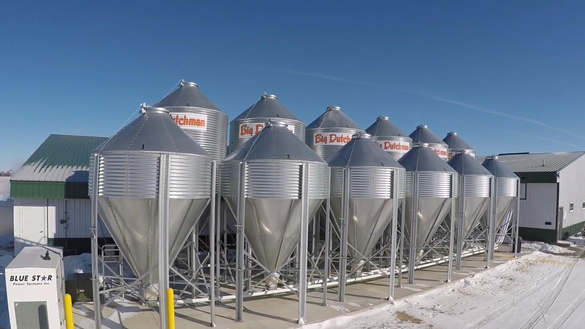 Feed Bins Amp Conveying Feed Storage Bins Big Dutchman Usa
